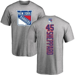 James Sheppard New York Rangers Youth Backer T-Shirt - Ash