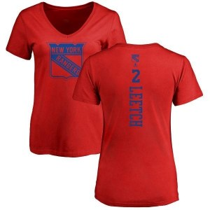 Brian Leetch New York Rangers Women's Red Branded One Color Backer T-Shirt -
