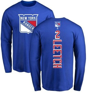 Brian Leetch New York Rangers Youth Royal Branded Backer Long Sleeve T-Shirt -