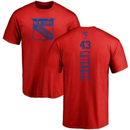 Daniel Catenacci New York Rangers Youth Red One Color Backer T-Shirt -